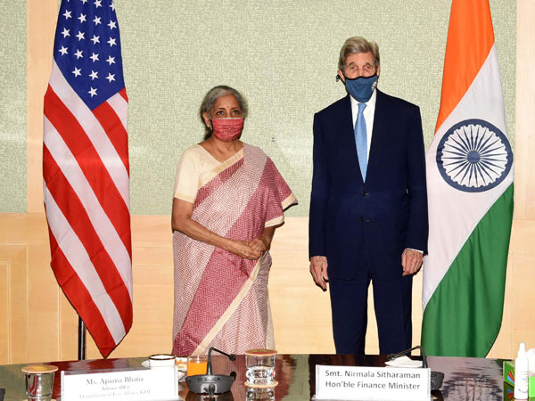 John Kerry met Nirmala Sitharaman in Delhi on Tuesday.