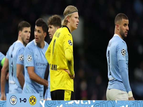 Manchester City and Borussia Dortmund in action (Photo/ Manchester City Twitter)