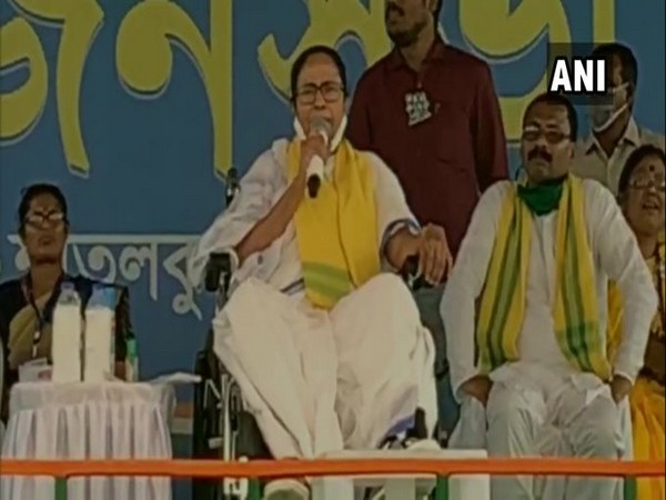 West Bengal Chief Minister Mamata Banerjee speaking at a public gathering in Coochbehar on Wednesday.