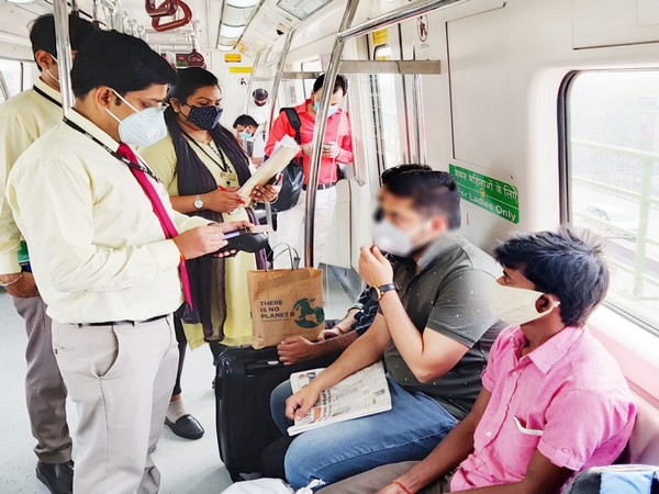 Visuals from the Delhi Metro (Pic Credit: DMRC Twitter handle)