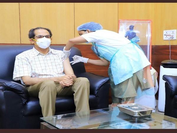 Maharashtra Chief Minister Uddhav Thackeray receiving second dose of COVID-19 vaccine (Photo/ANI)