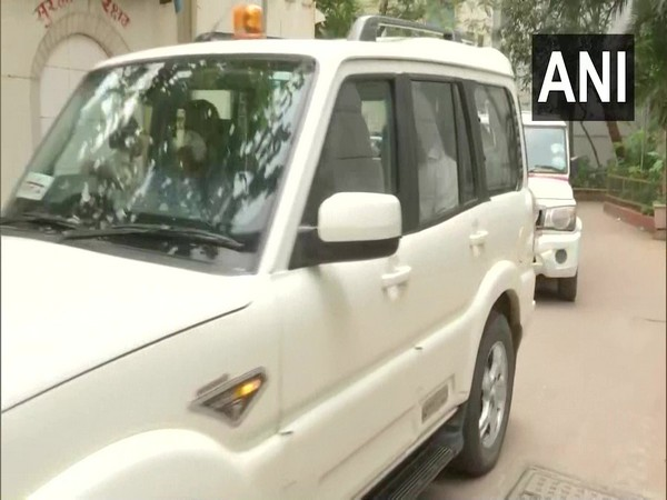 Suspended Mumbai Police officer Sachin Waze taken to JJ Hospital in Mumbai today. (Photo/ANI)
