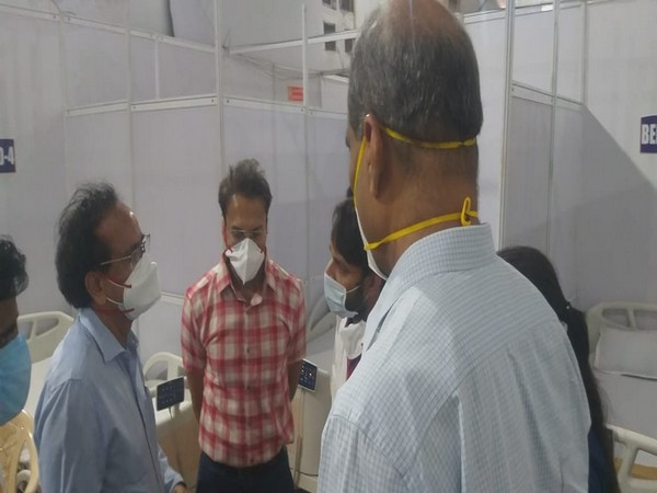 Visuals from BKC COVID-19 Vaccination centre  (Photo/ANI)
