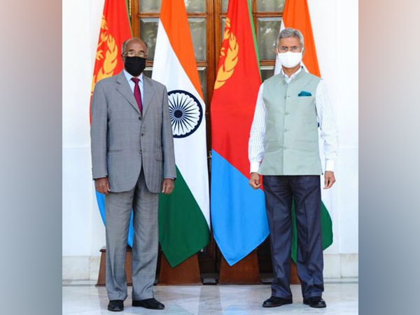 External Affairs Minister Dr S Jaishankar and his Eritrean counterpart Osman Saleh Mohammed (Image courtesy: Twitter)