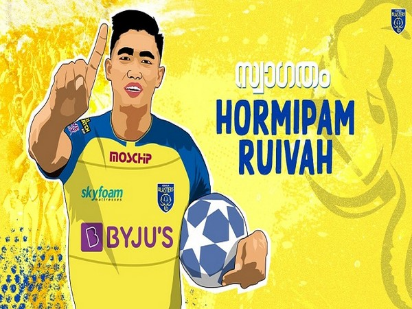 Young defender Hormipam Ruivah (Image: Kerala Blaster FC's Twitter)
