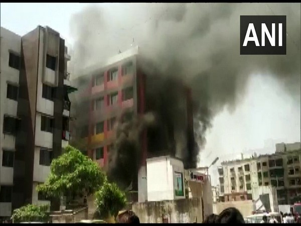 Visuals from where the fire broke out. (Photo/ANI)