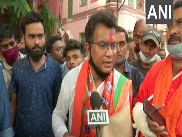 BJP candidate Rudranil Ghosh speaking to ANI on Friday.