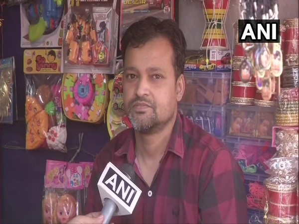 Rohit, a shopkeeper speaks to ANI. (Photo/ANI)