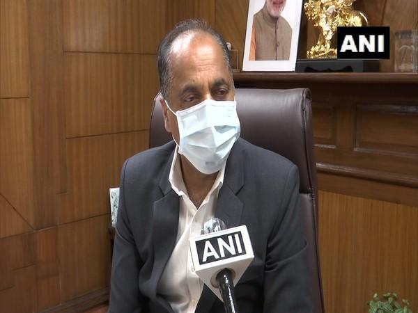 Himachal Pradesh Chief Minister Jairam Thakur speaking to ANI. (Photo/ANI)