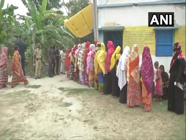Polling station in Bhangar, South 24 Parganas (Photo/ANI)