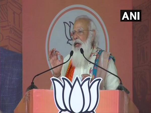 Prime Minister Narendra Modi speaking in Krishnanagar on Saturday. (Photo/ANI)
