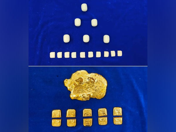 Gold seized by Chennai Air customs. (Photo/ANI)