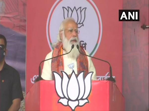 Prime Minister Narendra Modi in Bardhaman (Photo/ANI)