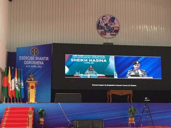 India Army Chief General MM Naravane attended the Closing Ceremony of Multinational Exercise Shantir Ogrosena 2021