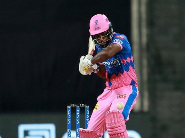 Rajasthan Royals skipper Sanju Samson in action against Punjab Kings (Photo/ IPL Twitter)