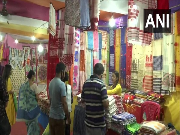 'Rongali Ke Ranj' market organised for Bihu shoppers in Guwahati. [Photo/ANI]
