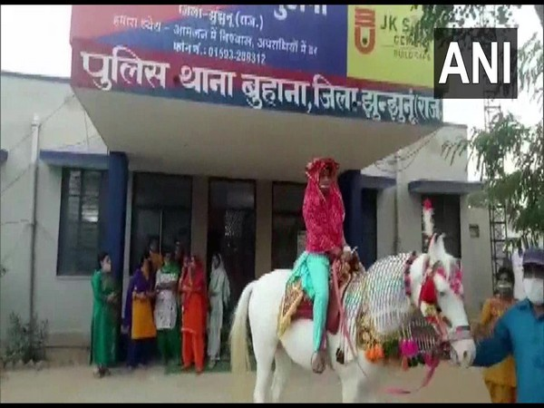 Bindori being held at Buhana Police Station in Jhunjhunu district. (Photo/ANI)