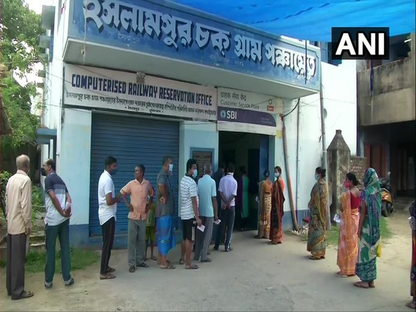 Visuals from polling in phase VII elections in Murshidabad, West Bengal. (Photo/ANI)