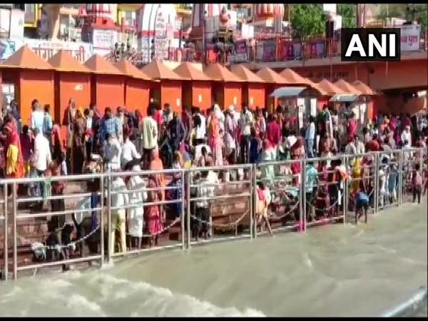 Visuals from Haridwar  (Photo/ANI)