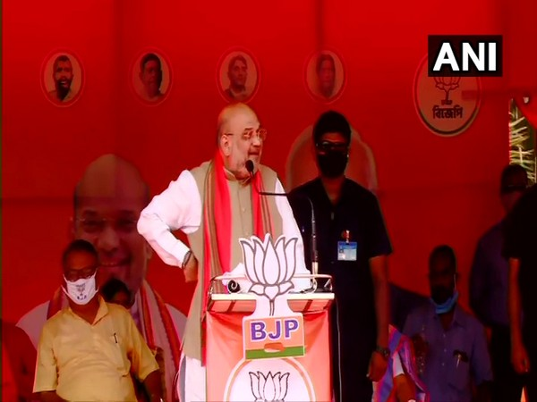 Union Home Minister Amit Shah in Nadia (Photo/ANI)