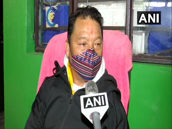 GJM leader Bimal Gurung speaking to ANI