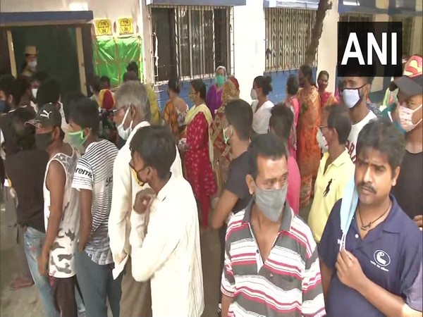 Visuals from polling in phase V elections in Bidhannagar, West Bengal. (Photo/ANI)