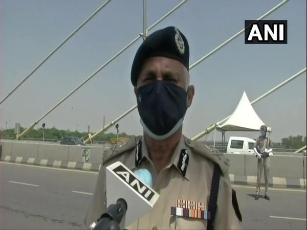 Delhi Police Commissioner SN Shrivastava speaking to ANI. (Photo/ANI)