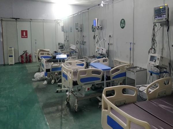 The COVID-19 facility set up by the DRDO in Delhi. (Photo/ANI)