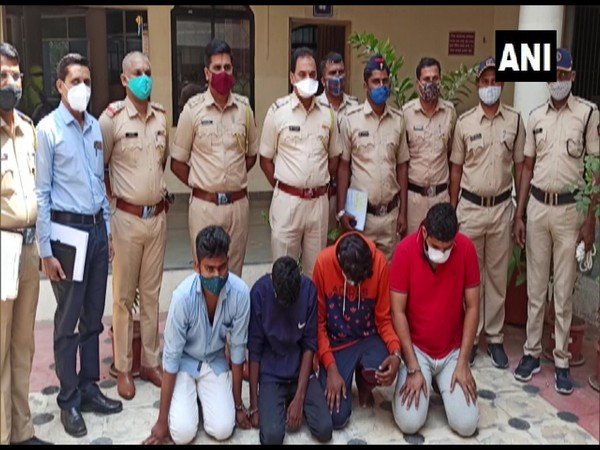 The four arrested persons in Pune. (Photo/ANI)