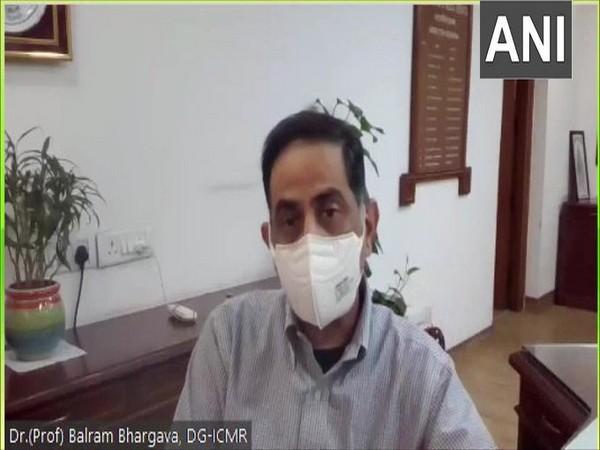 ICMR DG Dr Balram Bhargava speaking to ANI on Monday. (Photo/ANI)