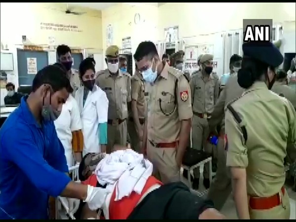 The criminal at the hospital after suffering an injury in the encounter. (Photo/ANI)