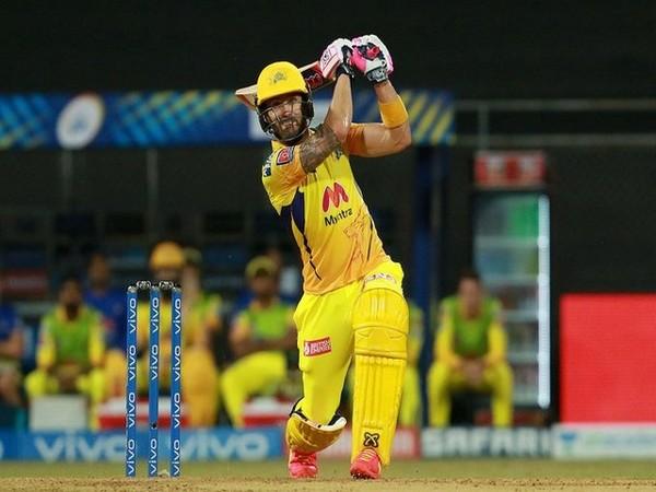 CSK batsman Faf du Plessis (Photo/ IPL Twitter)