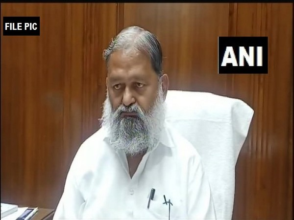 Haryana Health Minister Anil Vij (File Photo/ANI)