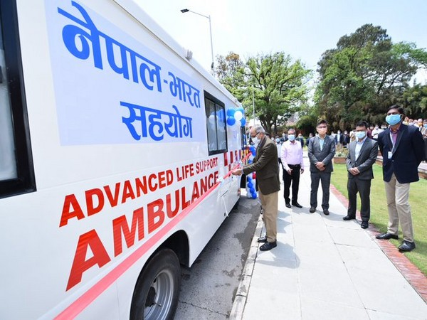 The ambulances were given as part of the Indian government's continued support and complementing Nepal's fight against COVID-19 pandemic, according to the Indian embassy.