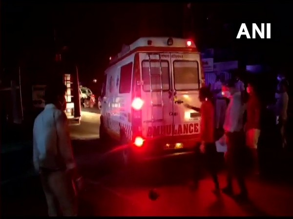 An ambulance at the site of the incident. (Photo/ANI)