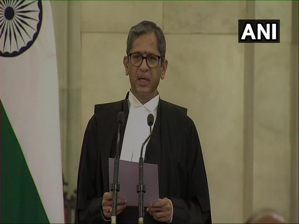 Chief Justice of India NV Ramana. [Photo/ANI]