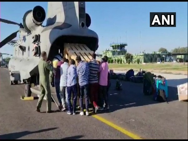 COVID-19: IAF's Chinook helicopter leaves for Leh from Jammu with Bio Safety Cabinet and Centrifuges
