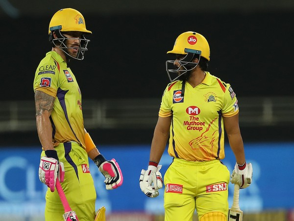 CSK's Faf du Plessis and Kedar Jadhav (Photo/IPL Twitter)