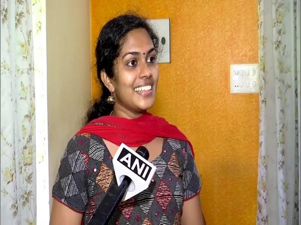 Aswathy S speaking to ANI in Thiruvananthapuram on Saturday. (Photo/ANI)
