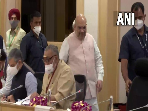 Union Home Minister Amit Shah at the LWE review meeting (Photo/ANI)