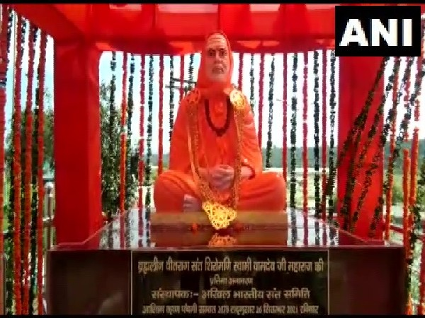 Statue of Swami Vamdev Maharaj unveiled in Haridwar on Sunday. (Photo/ANI)