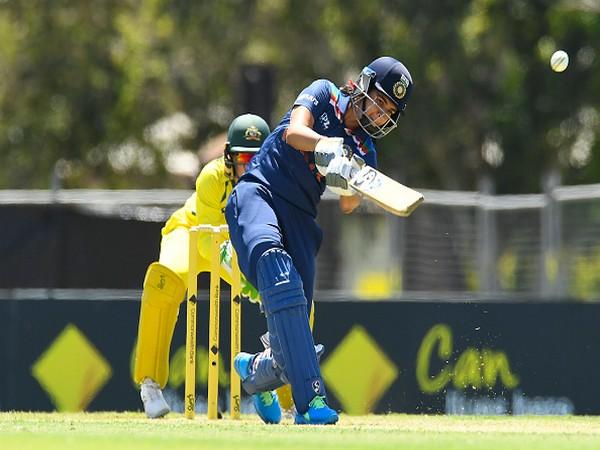 Yastika Bhatia in action against Australia (Photo/ BCCI Women Twitter)