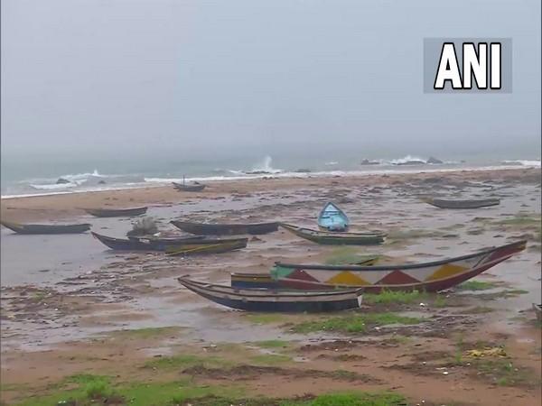 A visual from a beach in Andhra Pradesh. Photo/ANI