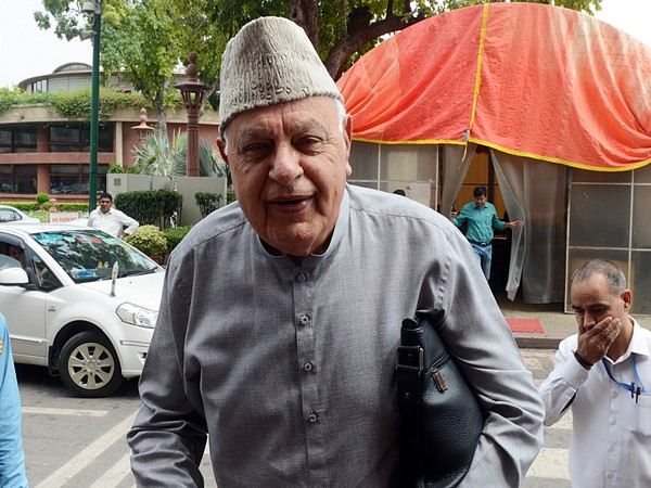 Former Jammu and Kashmir chief minister and National Conference leader Farooq Abdullah [Photo/ANI]