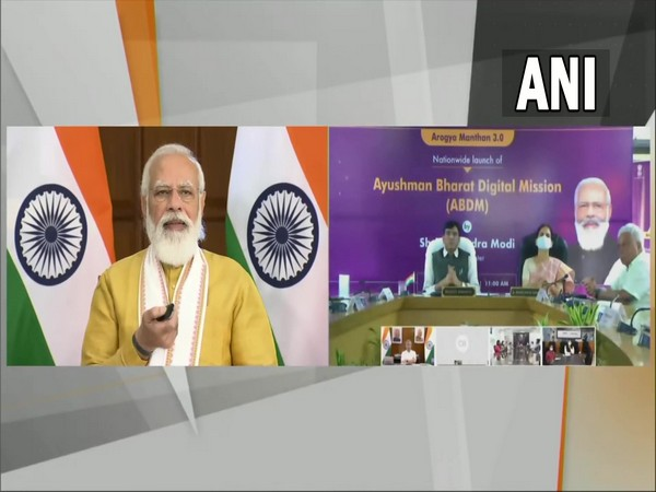 Prime Minister Narendra Modi launching Ayushman Bharat Digital Mission on Monday. (Photo/ANI)