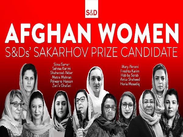 European group nominates 11 Afghan women for human rights award [Image: @TheProgressives]