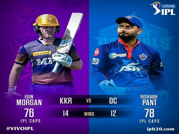 KKR skipper Eoin Morgan and Delhi Capitals captain Rishabh Pant (Photo/ IPL Twitter)