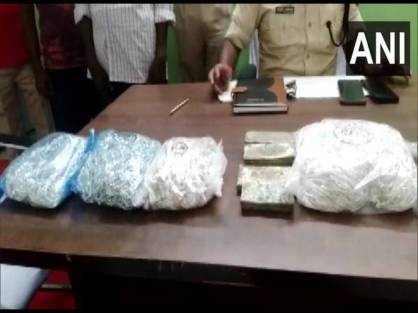 46.6 kgs silver was seized from two persons at a railway station in Gaya. (Photo/ANI)