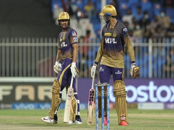 Shubman Gill and Venkatesh Iyer in action (Photo/ IPL Twitter)