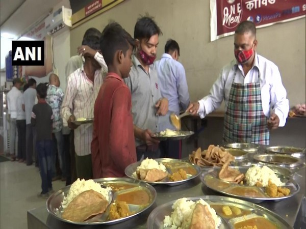 Visuals of the food outlet serving food to people (Photo/ANI)
